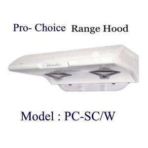 PRO CHOICE UNDERCABINET Range hood Stock Clearance Sales!