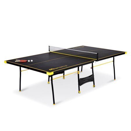 MD Sports Official Size Table Tennis Table, Black/Yellow W
