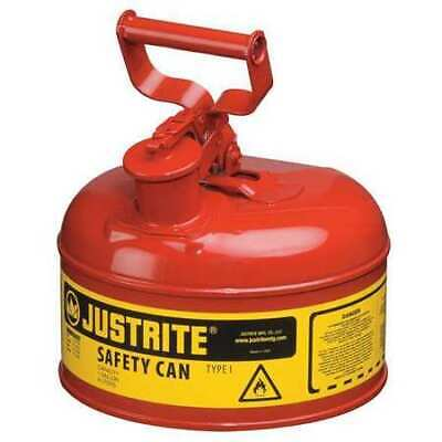 Justrite 7110100 1 Gal. Red Steel Type I Safety Can For Flammables