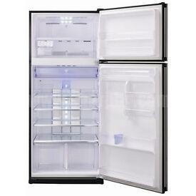 Free standing Black Fridge freezer, Sharp SJ-GC680V-BK