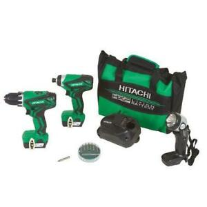Hitachi 12V Drill / Impact / Flashlight Kit KC10DFL2