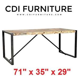 NEW* SOLID WOOD DINING TABLE TD1220 151792581 CDI FURNITURE RECLAIMED