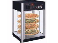 Hot Display Cabinet (NEW) Black EN100 (oct)