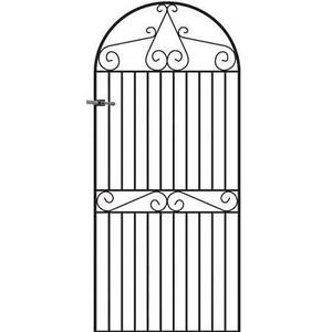 Elegant Tall Metal Garden Gates