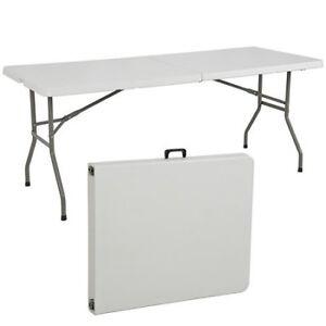 6 Ft Plastic Foldable/Folding Table. Brand New RELYPLAST