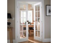 Cadeby 10 Lite Clear Glazed Moulded Internal French French Door, (H)1981mm (W)1168mm