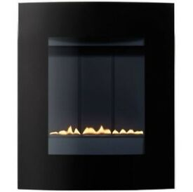 FLUELESS GAS FIRE BLACK