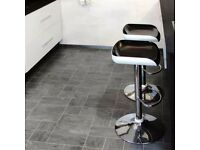 Floor laminate (bathroom, kitchen, dining room etc)