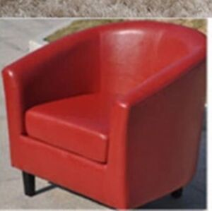 red leather sofa set of 2 , each is 175$ , in a new condition