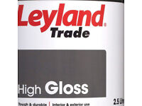 leyland paint 2.5 litre undercoat and gloss brilliant white