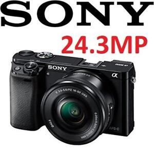 NEW SONY A6000 CAMERA W/ 16-50 LENS ILCE6000L/B 206969691 MIRRORLESS DIGITAL PHOTOGRAPHY 16-50MM POWER ZOOM LENS KIT ...