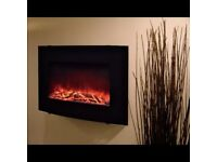 Blyss Murlo Black Electric Remote Control Wall Hung Electric Fire