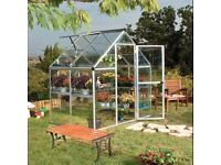 6 x 4 Polycarbonate Aluminium Greenhouse Brand New