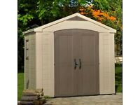 LARGE B&Q PLASTIC RESIN GARDEN SHED.