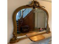 Mirror - vintage / antique gold