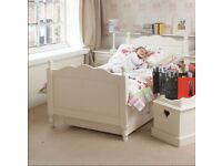 Aspace Single Bed with Trundle Bed in Antique White - LANCS