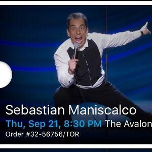 Sebastian Maniscalco September 21 Fallsview Casino