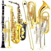 Music Lessons. Brass and Woodwind Instruments