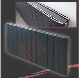 Phoenix Urban Aluminium Anthracite Horizontal Designer Radiator Size = 600mm x 1124mm B.N.I.B