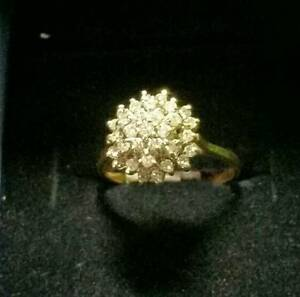 14k Gold Cluster Ring $250 .... Valentines is coming....