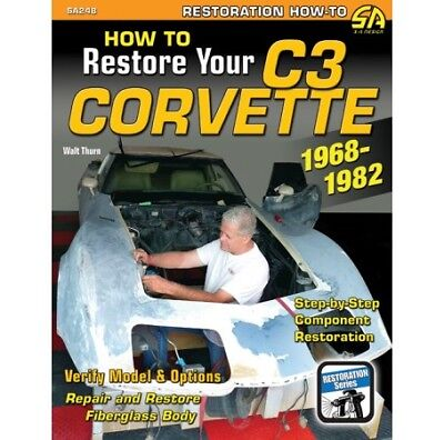 1968-1982 C3 Corvette: How to Restore, Service & Repair Manual Book Guide SA248 comprar usado  Enviando para Brazil