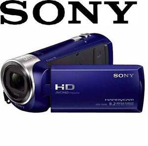 "REFURB SONY HD HANDYCAM CAMCORDER VIDEO CAMERA 2.7"" LCD - BLUE 1080P FULL 97491817"