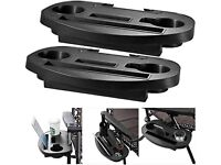 2 x Clip On Side Table Tray For Zero Gravity Sun Lounger/Camping Chair /NEW