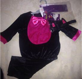 Velour cat Halloween costume 9- 12 monthsNEW WITH TAGS