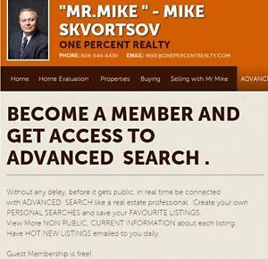 ADVANCED PROPERTIES SEARCH like a real estate professional.