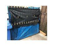 Set of large metal gates