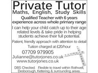 Maths and English Private Tutor