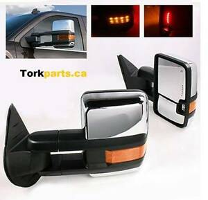 GMC Sierra / Chev Silverado New Style Chrome Towing Mirrors