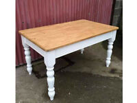 Vintage Solid Pine , Farm House Dinning Table