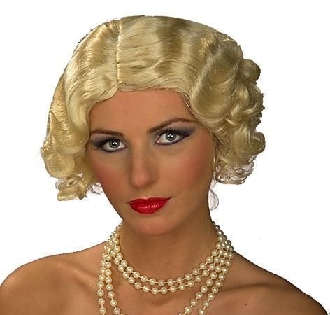 Brown 20/'s Flirty Flapper Wig Wavy Curls Chicago Roaring Gatsby Cabaret Jazz