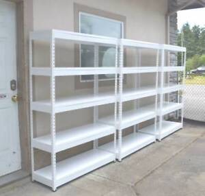 Utility Steel Shelves - Slotted Metal Shelving - FREE DELIVERY