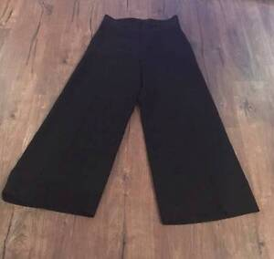 Italian high waisted wide leg black pants Cammeray North Sydney Area Preview