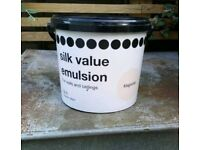 Big tin of magnolia emulsion paint - only used a tiny bit