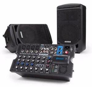 Console amplifiée + 2 haut-parleur XP800 Samson *neuf 2 x 400w