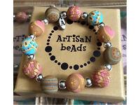 Artisan bead bracelets