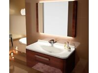 Ambiance Bain Glamour basin and LED mirror