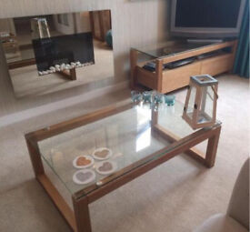 NEXT glass coffee table