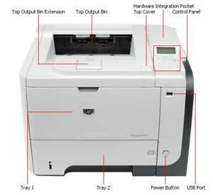 Overstock - 2 - HP P3015dn Printers with Additional Paper Trays