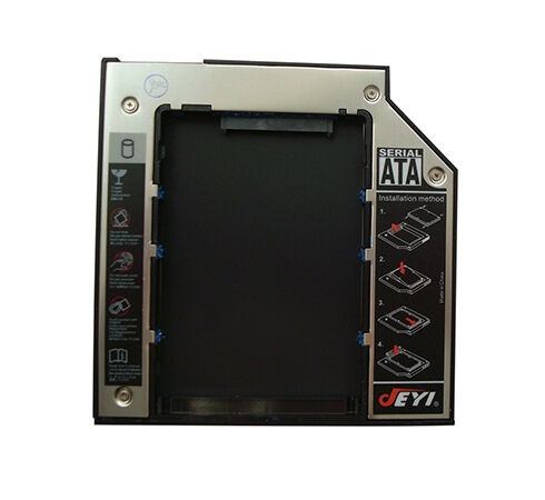 Aluminium 12.7 mm SATA to SATA Drive Bay Caddy