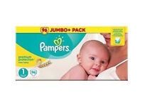 4x JUMBO Pampers Nappies Bundle