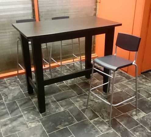 Beau Black Ikea STORNÄS Bar Table, Half Price