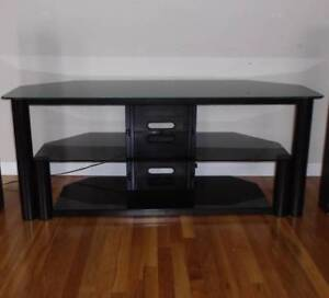 Large Metal Glass tv stand for 70 inch tvs