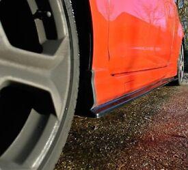 Fiesta st side splitters and rear spats