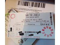 Run the jewels ticket April 1 Saturday