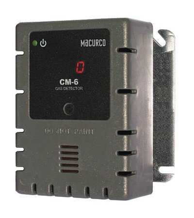MACURCO CM-6 Gas Detector,CO,LED,0 to 200 ppm
