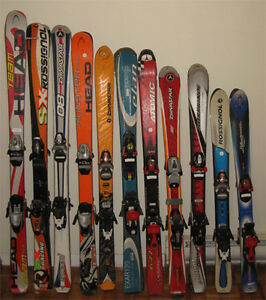Used skis, snowboard, snow blades, boots for sale or trade